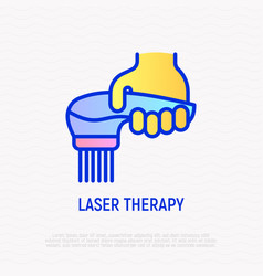 Laser therapy thin line icon modern vector
