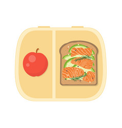 lunch box on white vector image
