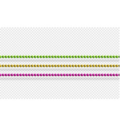 mardi gras beads isolated on transparent vector image