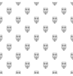 Mask anonymous pattern cartoon style vector