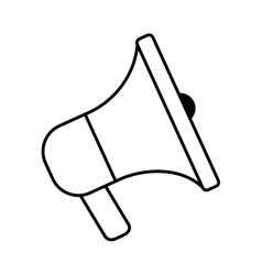 Megaphone speaker marketing element outline vector