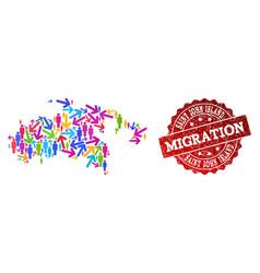 Migration collage mosaic map saint john vector