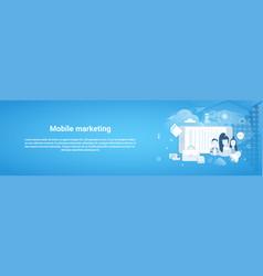 mobile marketing concept business horizontal vector image
