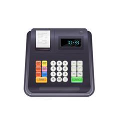 modern cash register isolated till device vector image