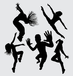 modern dance silhouette vector image