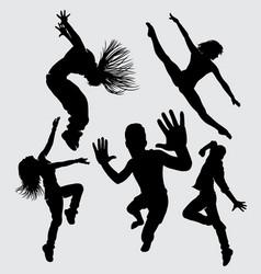 modern dance silhouette vector image