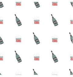 new year pattern in scandinavian for your vector image