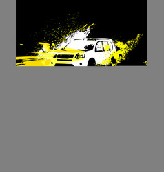 Off-road poster image vector