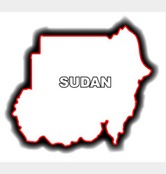 Outline map of sudan vector