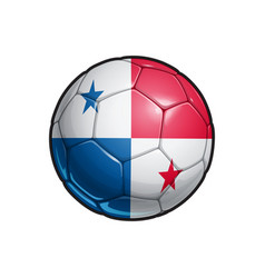 Panamas flag football - soccer ball vector