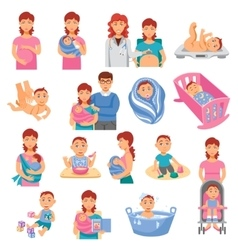 Parents icons set vector