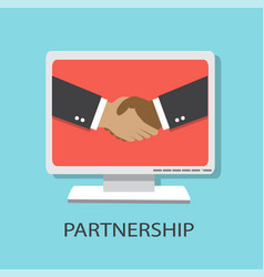 partnerstvo vector image