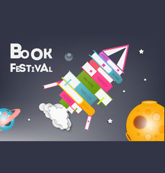 Placard for book festival vector