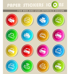 Print icon set vector