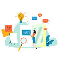 professional training education online tutorial vector image