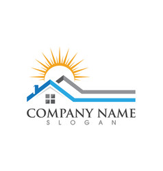 Property and construction logo design vector