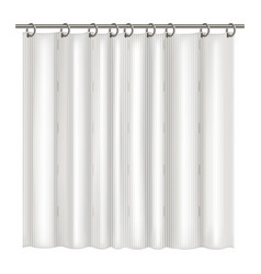 realistic detailed 3d blank shower curtains vector image
