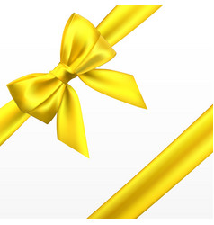 realistic golden yellow bow element vector image