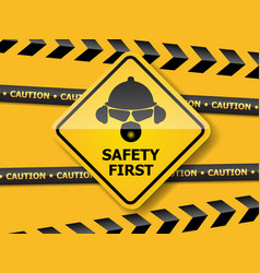 Safety first background vector