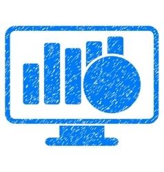 Sales Monitor Grainy Texture Icon vector