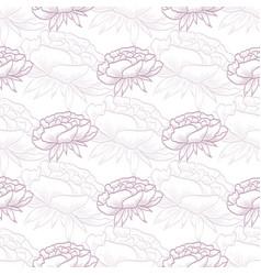 seamless pattern peony flowers vector image