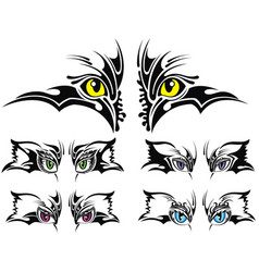 set of animal eyes vector image