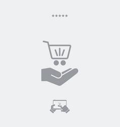 Shopping cart - minimal modern icon vector