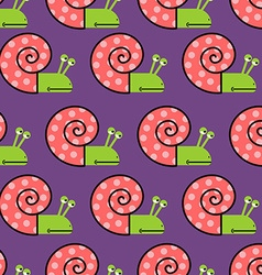 Snail shell with pink on purple background vector image