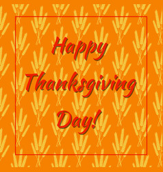 thanksgiving day in canada wheat sheaves vector image