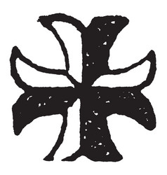 The cross moline is the heraldic charge borne by vector