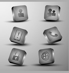 the set of different 3d buttons vector image