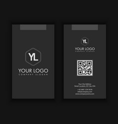 Vertical modern creative and clean business card vector