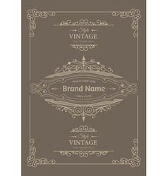 Vintage creative card vector