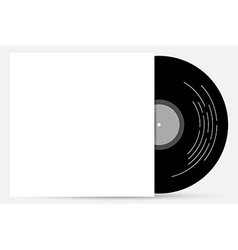vinyl cover mock up vector image