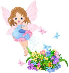 watering fairy vector image