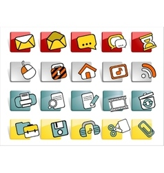 Web buttons with icons vector