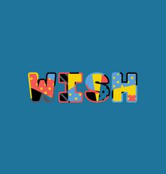 wish concept word art vector image