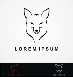 Wolf head logo design vector