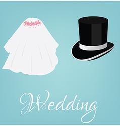 Bride and grooom vector image