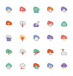 Cloud Computing Icons 3 vector image vector image