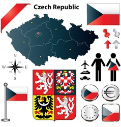 Czech Republic map vector image vector image