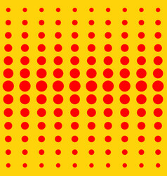 halftone dots red dots on yellow vector image