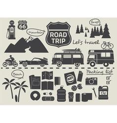 Road trip set vector