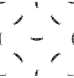 two handled saw pattern seamless black vector image vector image