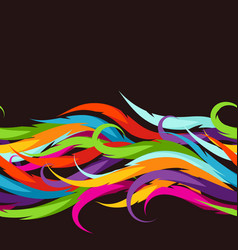 abstract colorful seamless pattern feather or vector image vector image