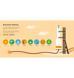 business startup vector image