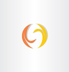 fire flame letter s logo icon vector image