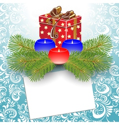 gift box christmas vector image