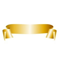 Golden ribbon vector image vector image