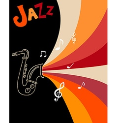 Jazz festival poster template vector image